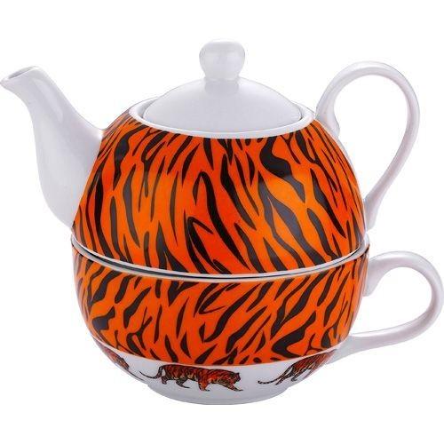 porzellan tee set 3 tlg tiger country club tea kaiserhoff kaufen bei. Black Bedroom Furniture Sets. Home Design Ideas